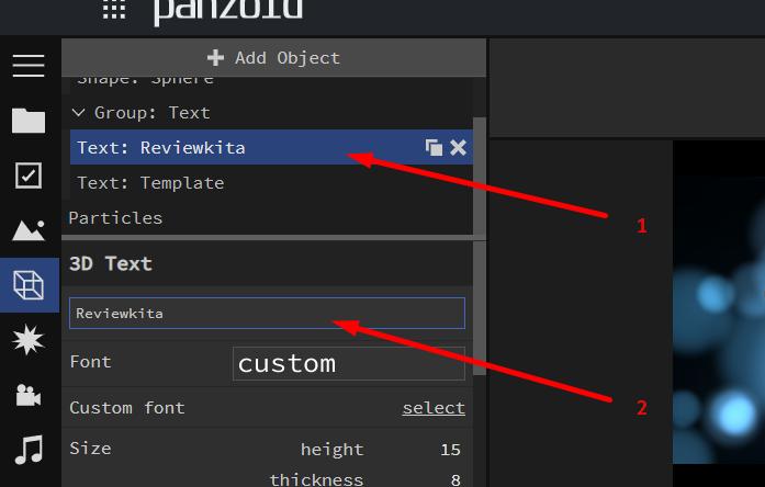 klik dan edit isinya