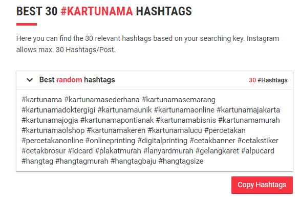 All Hashtag random