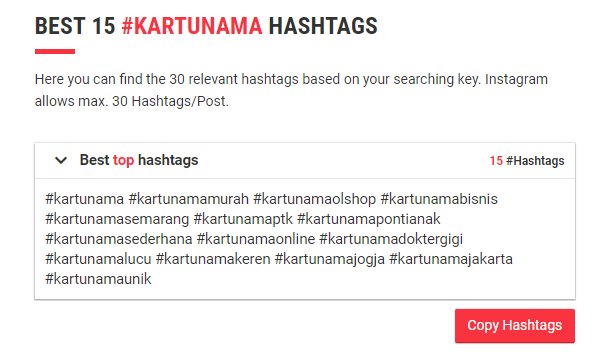 All Hashtag top