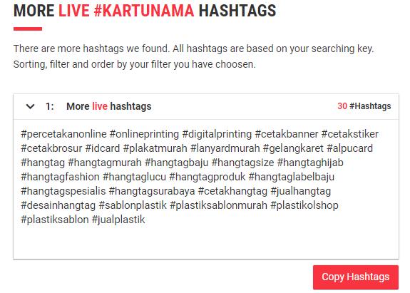 All Hashtag live