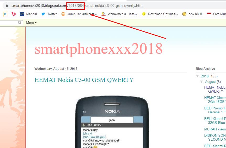 Menghapus tanggal dan tahun dari url permalink blogspot